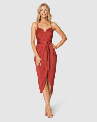 Pilgrim Women's Red Midi Dresses - Nastasia Midi Dress - Size One Size, 6 at The Iconic
