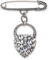 Lulu Frost Nina Crystal Heart Brooch
