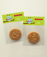 Spark & Spark Baby Blue Owl Personalized Treat Bag - Set of 24