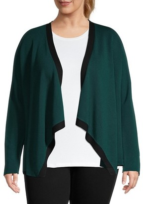Eileen Fisher Plus Waterfall Cardigan
