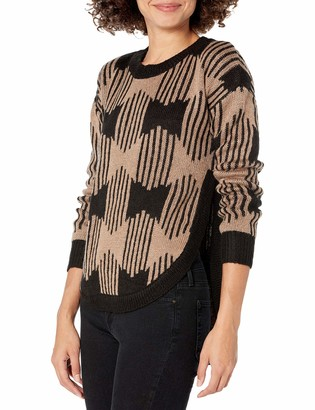Olive + Oak Olive & Oak Women's Zip Zag Printed Crew Neck Sweater