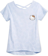 Hello Kitty Bow-Print T-Shirt, Big Girls (7-16)