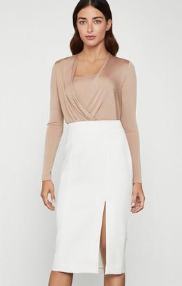BCBGMAXAZRIA Crepe Side-Slit Skirt
