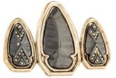 House Of Harlow Triple Arrowhead Ring