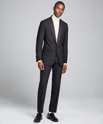 Todd Snyder Black Label Sutton Peak Lapel Tuxedo Jacket in Black Italian Wool