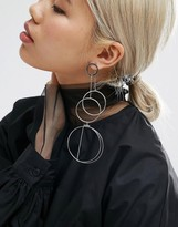 Asos Open Statement Circle Drop Earrings