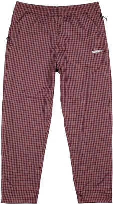 Carhartt Wip Alistair checked shell sweatpants