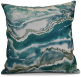 "E By Design Remolina Geometric Print Pillow, Teal, 16""x16"""
