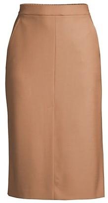 Seventy Italian Wool Straight Pencil Skirt