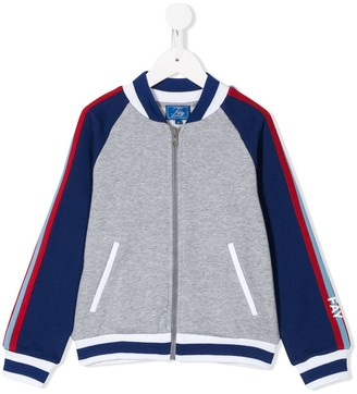 Fay Kids Colour-Block Bomber Jacket