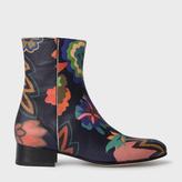 Paul Smith Women's Botanical Print Leather 'Bardo' Chelsea Boots