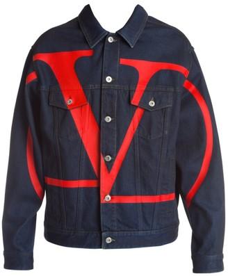 Valentino Large Logo Denim Jacket