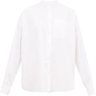KHAITE Valentina Cotton-poplin Shirt - White