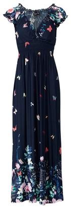 M&Co Izabel floral shirred waist dress