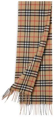 Burberry Mini Classic Vintage Check Cashmere Scarf