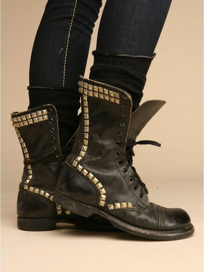 Free People Studded Vintage Combat Boot