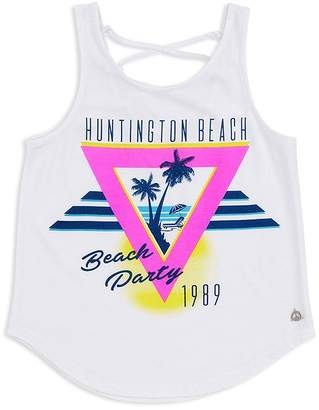 Butter Shoes Girls' Huntington Beach Lace-Up Tank - Little Kid, Big Kid