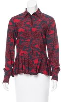 Dries Van Noten Printed Peplum Blouse w/ Tags
