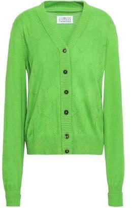 Maison Margiela Pointelle-knit Cotton, Cashmere And Silk-blend Cardigan