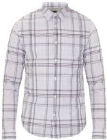 Vince Plaid Checked Cotton-poplin Shirt