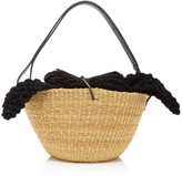 Muun Egg Knit Straw Tote
