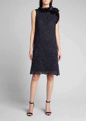 Rickie Freeman For Teri Jon Floral Lace Sleeveless Dress