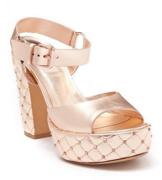 Valentino Diamond Quilt Platform Sandal