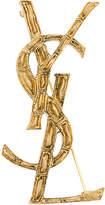 Saint Laurent logo brooch