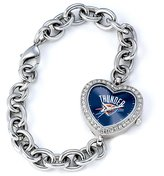 Game Time Women's NBA-HEA-OKC Heart Collection Oklahoma City Thunder Watch