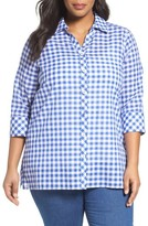 Foxcroft Plus Size Women's Gingham Tunic