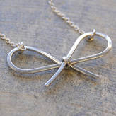 Otis Jaxon Silver Jewellery Silver Bow Necklace