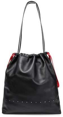 Alexander Wang Logo-embellished Textured-leather Bucket Bag