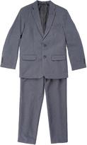 Van Heusen Heather Charcoal Poplin Two-Piece Suit - Boys