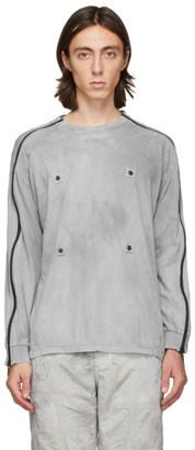 Blackmerle Grey Zippered Sleeves Long Sleeve T-Shirt