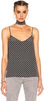 AG Adriano Goldschmied Lisette Tank with Scarf in Floral,Gray.