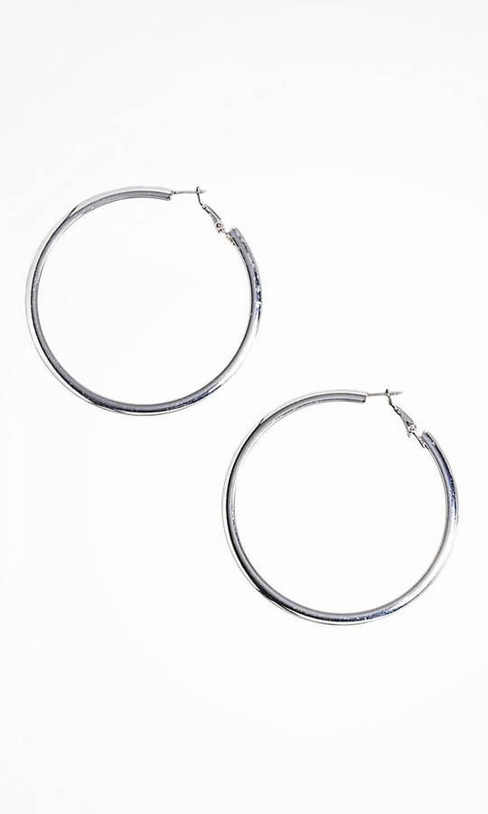 Express Flat Hoop Earrings