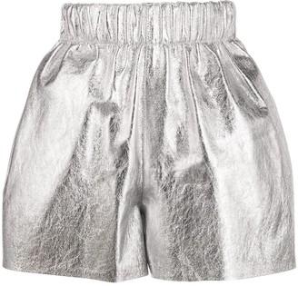 Manokhi Strike metallic shorts