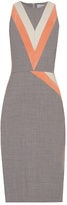 Altuzarra Klein chevron-patterned stretch-wool dress