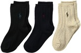 Polo Ralph Lauren Dress Rib Slack 3-Pack Men's Crew Cut Socks Shoes