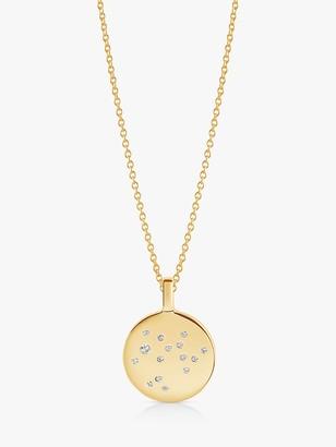 Sif Jakobs Jewellery Zodiaco Saggitarius Cubic Zirconia Round Pendant Necklace