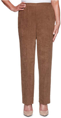 Alfred Dunner Petite Walnut Grove Faux-Suede Pants