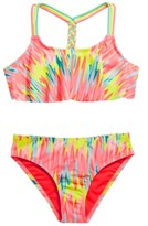 Breaking Waves Girls Sassy Leopard Bikini Swimsuit