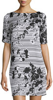 Laundry by Shelli Segal Floral-Print Shirtdress, Black