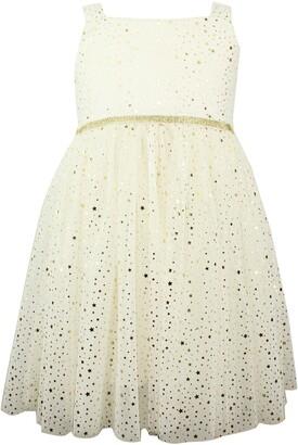 Popatu Metallic Star Tulle Dress