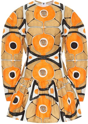Christopher Kane Printed cotton minidress