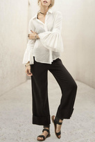 Moon River Flared Sleeve Blouse