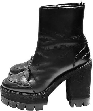 N°21 N21 Black Leather Ankle boots