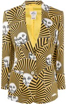 Fornasetti Pre Owned 2000s striped muse print blazer