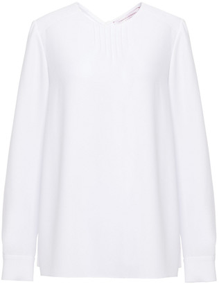 Carolina Herrera Pintucked Crepe Blouse