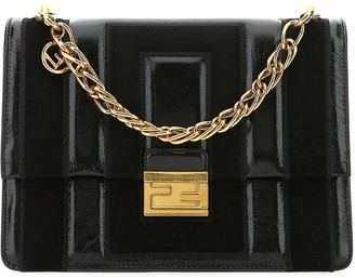 Fendi Kan U Quilted Chain Shoulder Bag